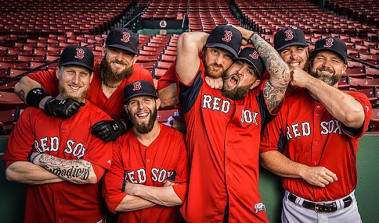 "From Sports Illustrated's brilliantly named ""The Hirsuite of Happiness: How facial hair brought joy to the Red Sox."""