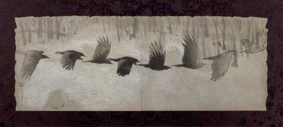 Low Flying Crow by Warren Criswell