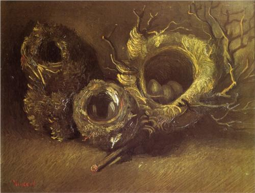 Still Life with Three Bird's Nests by Vincent van Gogh (on his 161st birthday).
